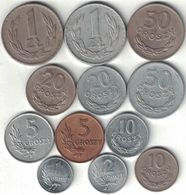 Poland Collection Of 12 Coins 1949 All Listed & Different - Pologne