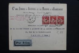 ALGÉRIE - Enveloppe Commerciale De Alger Pour Paris En 1933 Par Avion - L 28752 - Lettres & Documents
