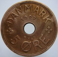 Denmark 5 Ore 1927 XF - Denmark