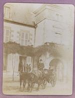 SAINT HILAIRE / ALLIER - ATTELAGE DEVANT Le CHATEAU De MALTAVERNE - RARE PHOTOANCIENNE (11 X 15 Cm) - 1902 - DATEE, LOCA - France