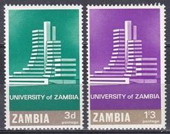 Sambia Zambia 1966 Architektur Architecture Bauwerke Builidngs Bildung Educations Universität Uni Lusaka, Mi. 28-9 ** - Zambia (1965-...)