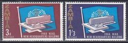 Sambia Zambia 1966 Architektur Architecture Bauwerke Builidngs Organisationen UNO ONU WHO Gesundheit Health, Mi. 26-7 ** - Zambia (1965-...)