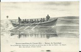 BELGIQUE - COQ SUR MER - Secours Maritimes -  Barque De Sauvetage - De Haan
