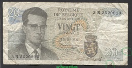 België Belgique Belgium 15 06 1964 -  20 Francs Atomium Baudouin. 3 R 2520913 - [ 6] Treasury