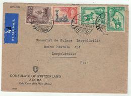 Grande-Bretagne, Ex-colonies  Gold Coast // Côte D'Or //  Lettre Pour Leopoldville - Costa D'Oro (...-1957)