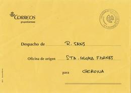 32606. Carta Franquicia Correos BARCELONA  1995 A Ofician Santa Coloma Farnes - 1931-Hoy: 2ª República - ... Juan Carlos I