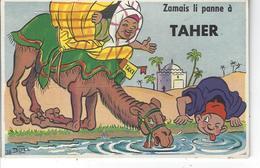 """TAHER - ALGERIE - T.B. Carte à Système Complète  """" Zamais Li Pense à ...."""" Signée Bozz - A Systèmes"""