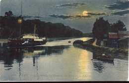 CAEN Arrivée Du Bateau Du Havre Edition LL N° 150 Effet Nuit - Caen
