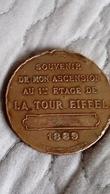 SOUVENIR DE MON ASCENSION AU 1ER ETAGE DE LA TOUR EIFFEL - Bronzes