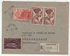 Afrique Equatoriale Française, A.E.F. // Lettre  Recommandée Par Avion Pour Brazzaville - A.E.F. (1936-1958)