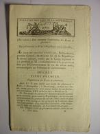 BULLETIN DES LOIS GERMINAL AN XI (1803)  PHARMACIE MANUFACTURES FABRIQUES ATELIERS VEMARTS MOUSSY LE NEUF SAINT DOMINGUE - Décrets & Lois