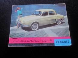 1960 DAUPHINE RENAULT DÉPLIANT PUBLICITAIRE Transports Voiture Automobile DAUPHINE RENAULT Autres Collections - Cars