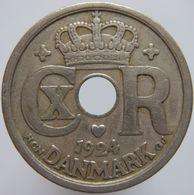 Denmark 10 Ore 1924 VF / XF - Danimarca