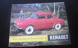 1960 DAUPHINE RENAULT DÉPLIANT PUBLICITAIRE Transports Voiture Automobile DAUPHINE RENAULT Autres Collections - Voitures