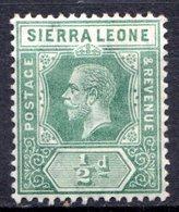 SIERRA LEONE - (Colonie Britannique) - 1912 - N° 89 - 1/2 P. Vert - (George V) - Sierra Leone (...-1960)
