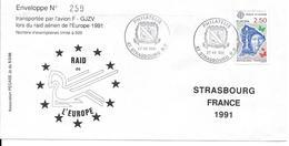 LOT DE 3 ENVELOPPES RAID DE L'EUROPE 1991 PAYS-BAS - DANEMARK - FRANCE - Autres - Europe