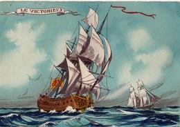 LE VICTORIEUX. Voilier 1161. A. -  Barré & Dayez , Colorisé. En Bon état, Pas Circulé. Voir SCAN - Illustrators & Photographers