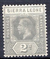 SIERRA LEONE - (Colonie Britannique) - 1912 - N° 92 - 2 P. Gris - (George V) - Sierra Leone (...-1960)