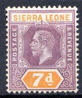 SIERRA LEONE - (Colonie Britannique) - 1912 - N° 97 - 7 P. Violet-brun Et Orange - (George V) - Sierra Leone (...-1960)