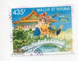 Env 1 : Wallis Et Futuna Timbre Oblitéré Taipei 93 - Gebraucht