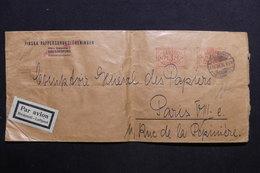 FINLANDE - Affranchissement Mécanique De Helsinki Sur Enveloppe Par Avion Pour Paris En 1934 - L 28758 - Lettres & Documents