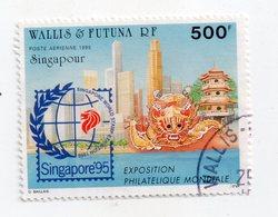 Env 1 : Wallis Et Futuna Timbre Oblitéré Singapour Singapor 95 Exposition Philathélique - Gebraucht