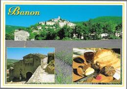BANON ALPES DE HAUTE PROVENCE - Vue Générale, Le Fromage De Banon - Other Municipalities