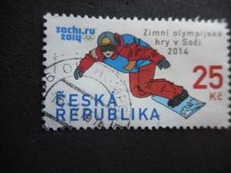 Timbre Oglitéré CESKA REPUBLIKA - JO SOCHI 2014 - Oblitérés