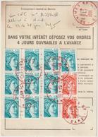 Ordre De Réexpédition Temporaire  Sabine O. Nîmes Rouge -> Canet Plage - Marcophilie (Lettres)