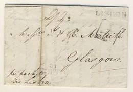 (C02) - PORTUGAL - LETTRE CARTA LETTER - PORTO => GLASGOW VIA BRITISH P.O. LISBON 1826 - ...-1853 Préphilatélie