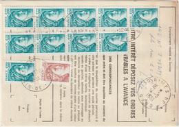 Ordre De Réexpédition Temporaire  Sabine O. Nîmes  -> Foix - Marcophilie (Lettres)