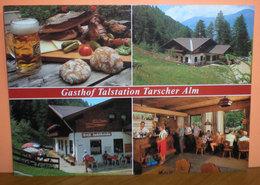 Gasthof Talstation Tarscher Alm Latsch Vedute Boccale Birra Cartolina Viaggiata 1992 - Hotels & Gaststätten