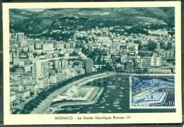 CM-Carte Maximum Card # 1962-Monaco # Sites & Monuments #  Le Stade Nautique Rainier III - Cartas Máxima