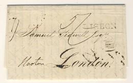(C02) - PORTUGAL - LETTRE CARTA LETTER - BRITISH P.O. LISBON  => LONDON 1833 - ...-1853 Préphilatélie
