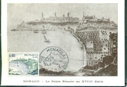 CM-Carte Maximum Card # 1965-Monaco #  Sites & Monuments # Architecture # Palais Princier Au XVIII° - Cartas Máxima
