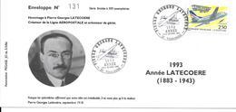 ENVELOPPE N°131 /300 FRANCE 1993 HOMMAGE A PIERRE GEORGES LATECOERE Créateur De La Ligne AÉROPOSTALE - Poste