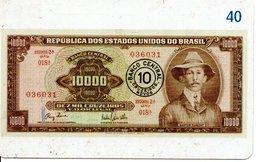 Télécarte Brésil   - Billet Monnaie Money Pièce Numismatique Bank Banque  Phonecard  (G 716) - Stamps & Coins