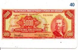 Télécarte Brésil   - Billet Monnaie Money Pièce Numismatique Bank Banque  Phonecard  (G 717) - Stamps & Coins