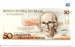 Télécarte Brésil   - Billet Monnaie Money Pièce Numismatique Bank Banque  Phonecard  (G 718) - Stamps & Coins
