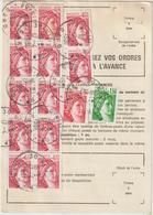 Ordre De Réexpédition Temporaire  Sabine O. Nîmes  -> Corte - Marcophilie (Lettres)