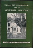 BALEGEM  - BOEK  BIJDRAGE TOT DE GESCHIEDENIS BALEGEM    - ZIE AFBEELDINGEN - Oosterzele