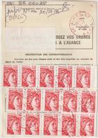 Ordre De Réexpédition Temporaire  Sabine + étiquette O. Nîmes Rouge  -> Monclar Du Quercy - Marcophilie (Lettres)