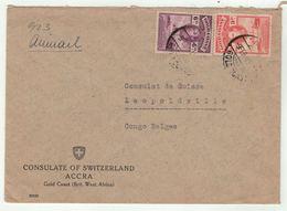 Grande-Bretagne, Ex-colonies  Gold Coast // Côte D'Or //  Lettre Pour Leopoldville - Côte D'Or (...-1957)