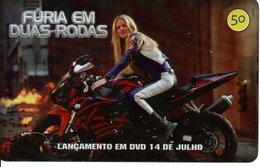 Télécarte Brésil  Moto Motor Bike Phonecard  Film Movie DVD Série Furia (G 720) - Motorbikes