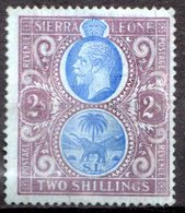 SIERRA LEONE - (Colonie Britannique) - 1912 - N° 102 - 2 S. Violet Et Outremer S. Azuré - (George V) - Sierra Leone (...-1960)