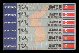 North Korea 1993 Mih. 3433/38 Map Of Korea (stampcard) MNH ** - Korea, North