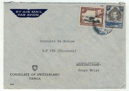 Grande-Bretagne, Ex-colonies  Kenya,Uganda,Tanganyika // Côte D'Or //  Lettre Pour Leopoldville - Kenya, Uganda & Tanganyika