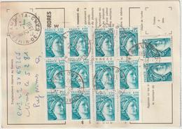 Ordre De Réexpédition Temporaire  Sabine  O. Nîmes  -> Ramatuelle - Marcophilie (Lettres)