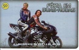 Télécarte Brésil  Moto Motor Bike Phonecard  Film Movie DVD Série Furia (G 721) - Motorbikes