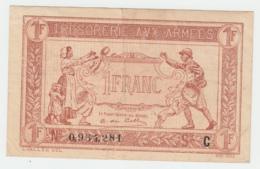 FRANCE 1 FRANC TRESORERIE AUX ARMEES 1917 VF+ Pick M2 - Treasury